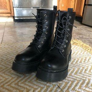 Nasty Gal Platform boots size 8